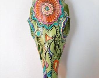 BoneArtPetit Hand Painted Deer Skull
