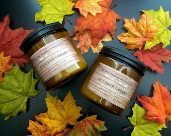 Fall Candles, Halloween Candles, Leaves Candles, Autumn Walk, Fall, Leaves, Halloween, Trick or Treat