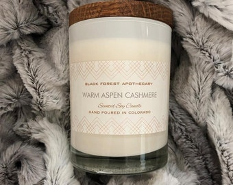 Cashmere candle, Luxury candles, Gifts for Her, For Her, Aspen, Soy Candles, Scented Candles, Cream, Cashmere, Colorado, Handmade