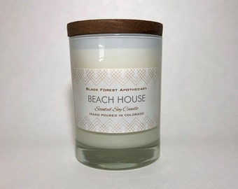 Beach candle, Ocean candle, Beach House, Candles, Gifts, Housewarming, Soy Candles, Scented Candles, Luxury Candles