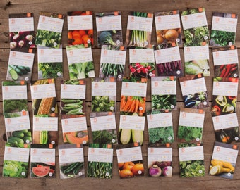 Set of 40 Vegetable Seeds for Planting | 40 Garden Seed Packets