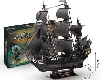 3D Puzzle Ship Assembled Model The Black Pearl Pirate Ship