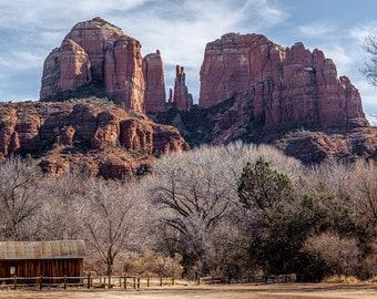 Landscape Fine Art Photography, Cathedral Rock, Sedona, Arizona, Barn
