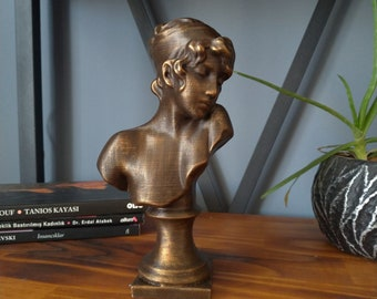 Sappho Bust Statue   Sappho's Sculpture   Sappho Tabletop Desktop Decoration    Modern Decorative Art Statue for Office or Home Decoration
