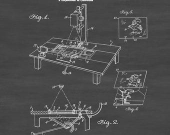 Disney Animation Camera Patent 1940 - Patent Print, Wall Decor, Movie Poster, Disney Patent, Home Theater Decor, Cartoon Drawing