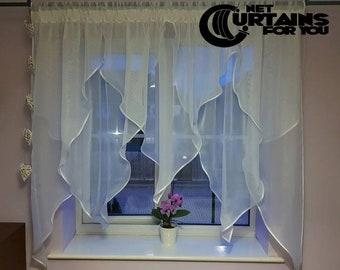 New Net Curtain /  /131c / Handmade / Firanki/  Store
