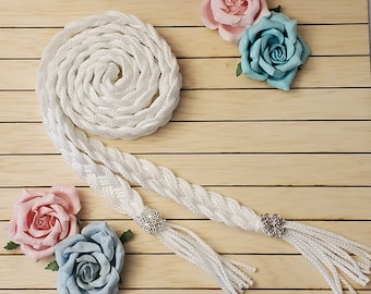 Handfasting Cord - Pure White - Celtic Handfasting Ties - Weddings-  Ceremonial Items - Celtic Wedding - Handfasting Cording- Celtic Knot