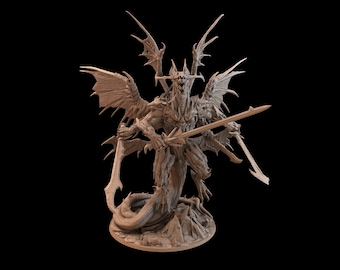 Demon Dragon   Dungeons and Dragons Miniature   Mini for Painting