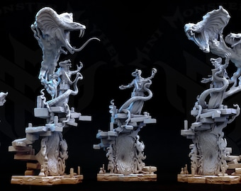 Occult Cobra   Dungeons and Dragons   Miniature for Painting