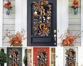 Boo Spider Pumpkin Halloween Garland Wreath Indoor Outdoor Decor Party Supplies Home Office Decorations Wreaths For Front Door Gift