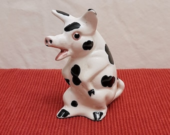 Handcrafted Ceramic Gloucester Old Spot Pig Earrings.