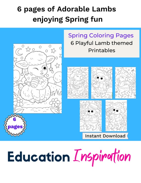 Lamb Coloring Pages Spring Coloring Pages Spring Coloring