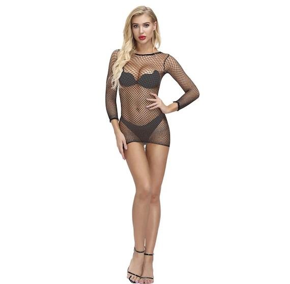 Exotic Dancewear Fishnet Dress