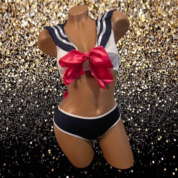 Exotic Dancewear Two Piece Cosplay Set S/M