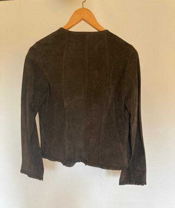 VINTAGE BROWN SUEDE jacket!! - image 2