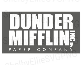 the office dunder mifflin inc paper company logo the office cast svg png digital file