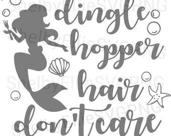 mermaid little mermaid dinglehopper hair dont care saying beach summer vibes beach vibes ariel mermaid svg png digital file