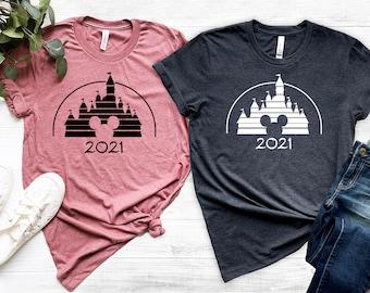 Retro Disney Family Shirt, Disney Vacation Shirt, Retro Castle Mickey Mouse 2021, Disneyworld shirt, Disneyland shirt, Magic Kingdom Shirt