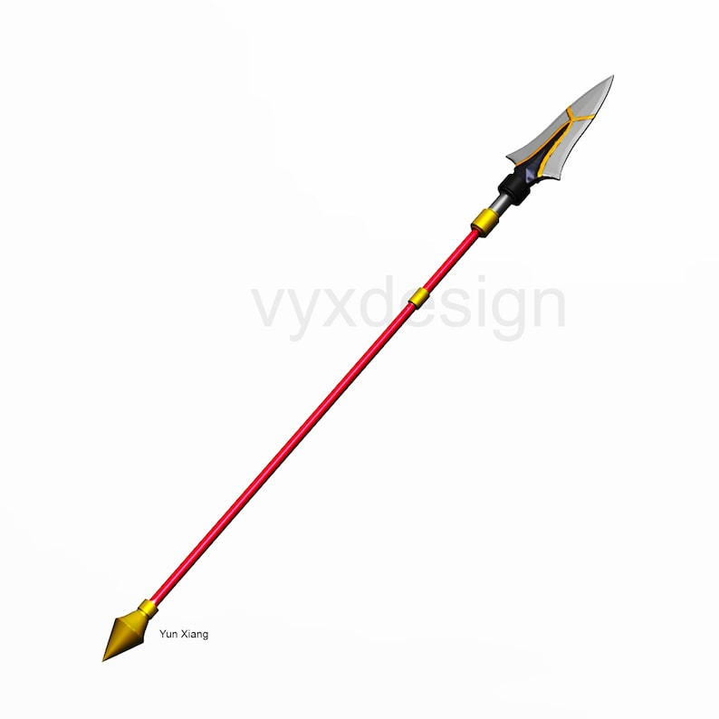 Xiangling Spear for 3D printing  Genshin Impact inspired image 1
