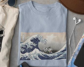 Unisex One Piece Shirt, The Great wave shirt, Anime shirt, Anime Merch, One piece shirt, Manga girl Shirt, kawaii clothing