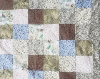 Handsewn Handquilted baby quilt