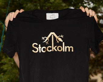 Stockolm Shirt Gents, Black/White large L