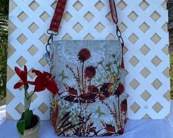 Floral Messenger Tote \u2219 Floral Messenger \u2219 Floral Pattern \u2219 Illustrated Messenger Bag \u2219 Fashionista Bag \u2219 Bohemian Floral Tote \u2219 Office Bag