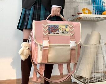 Anime Ita Bag, Travel Shoulder Bag, Laptop Backpack, Women Weekende Ita Purse Backpack, Animal Japanese Messenger bag, Laptop Shoulder Bag