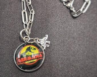 "Custom Charm-18"" Steel Chain Necklace"