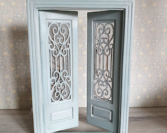 Dollhouse  miniature  furniture. Scale 1:12 . Hand painted  . Door