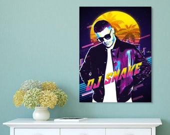 Home Decor Print Poster DJ Snake Poster Canvas Gift Poster DJ Snake Print Canvas Print Art Poster Unframed Poster #4