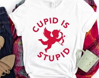 Stupid Cupid T Shirt kids shirts toddler shirts Baby shirts funny t shirts graphic tees