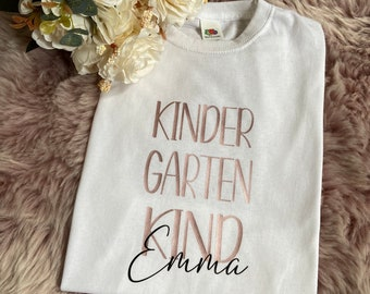 Kindergarten Enrolment Kindergarten start T-shirt personalized Name Young Girls 2021