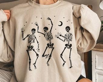 Halloween Party Dancing Skeleton Shirt Skeletons Happy Halloween Tshirt T-shirt Oversized Tee Shirt Comfortable Tee Halloween Shirt Tee