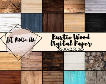 Rustic Wood Digital Paper, Wood Backdrop, Printable Wood Background, Wood Scrapbook Paper,Wood Background, Digital Paper, Scrapbooking Paper