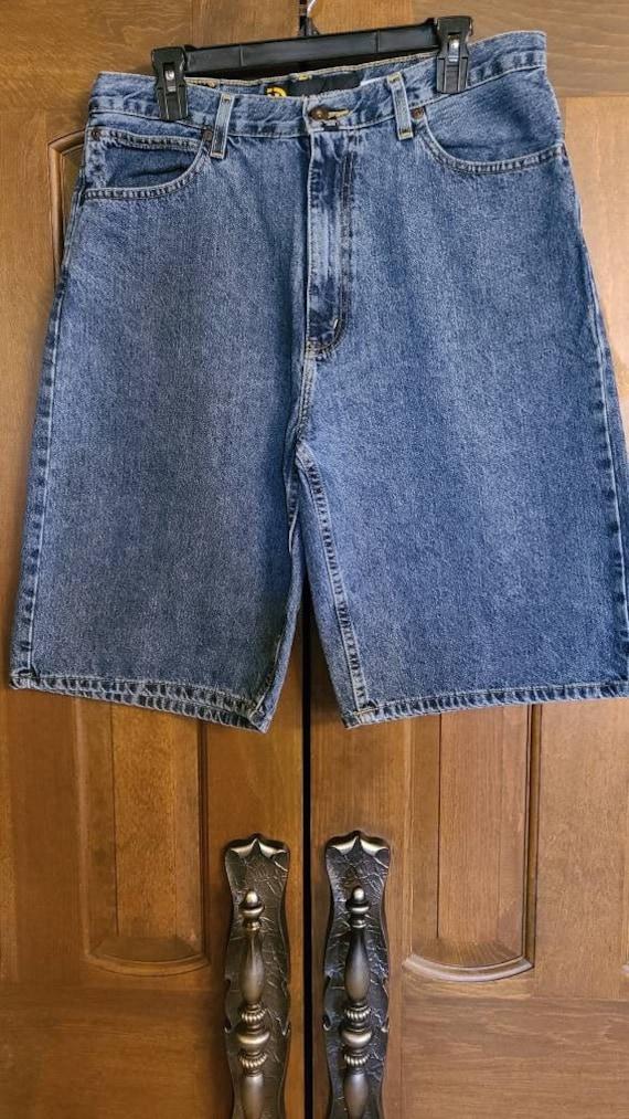 Vintage 90s Nautica Dark Wash Jean Shorts