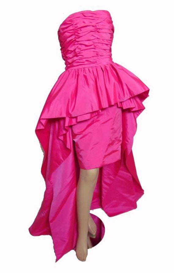 1980's bubble gum pink victor costa dress