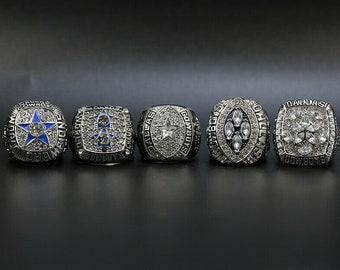 HASTTHOU Dallas Cowboys Supper Bowl Championship Rings Display Box Full Set