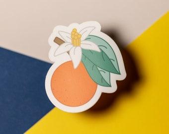 Orange Blossom Sticker / Floral + Fruit / Sunshine State / Florida / Sticker for Laptop + Phone + Journal + Water Bottle