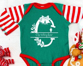 Custom Baby Bodysuit, Christmas gift for baby, personalized monogram bodysuit, stocking stuffers, Christmas gift from mom, Newborn Gifts