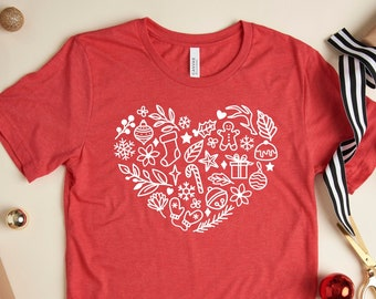 Scandi Christmas shirts for women, secret Santa gifts at work, cute Christmas shirts for teachers, stocking stuffers for Mom Christmas gifts
