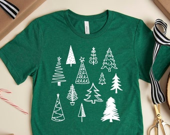 Christmas Tree Shirt, Secret Santa Gifts, Christmas Shirt for Him, Christmas Gift for Men, December Birthdays Gift
