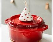 2 Hot Handle Covers Set Hot Lid Cover Mini oven mittens Le Creuset Staub Oven mittens Pot Handle knob cover Cast Iron Pot Holder