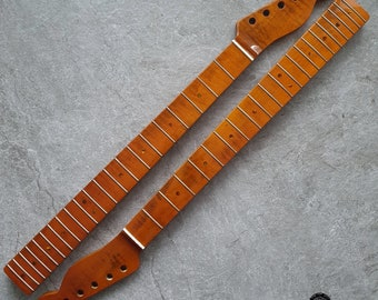 Tele electric guitar Neck Tiger Flame Maple 21 fret