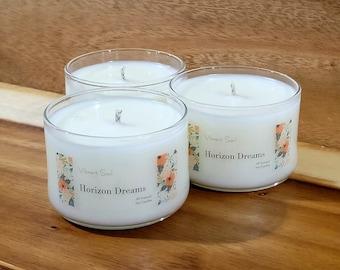Lemongrass Horizon Dreams by vibrantsoul 8oz natural soy candle