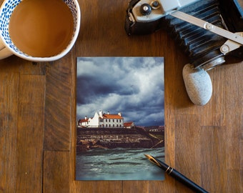 CLIFFTOP HOUSE - Cullercoats Bay, North East England. 5 X 7 blank Greeting Card with envelope.