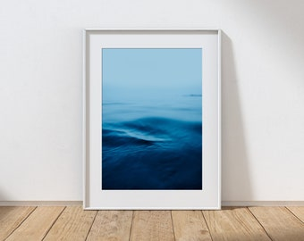 MOOD NO.1 -  Long Exposure In Water Seascape, Cullercoats Bay, North East England. Photographic Giclee Print A4, A3, A2.