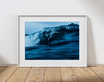 MOOD NO.3 -  Long Exposure In Water Seascape, Cullercoats Bay, North East England. Photographic Giclee Print A4, A3, A2.