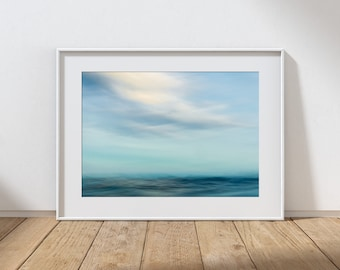 MOTION NO.3 -  Long Exposure In Water Seascape, Cullercoats Bay, North East England. Photographic Giclee Print A4, A3, A2.