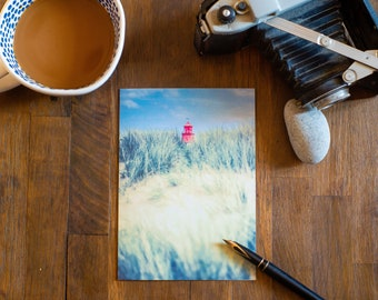 DUNES - South Shields Lighthouse, North East England. 5 X 7 blank Greeting Card with envelope.
